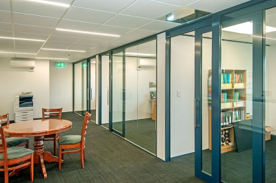 Partitions and acoustic sliding doors