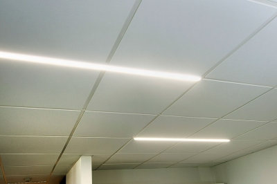 t-bar lighting in suspended ceiling