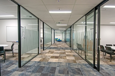 Office partitions and sliding doors